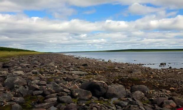 Так выглядит озеро Ангикуни летом