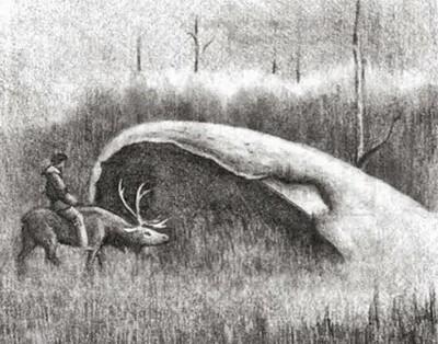 Рисунок котла в Якутской Долине Смерти.