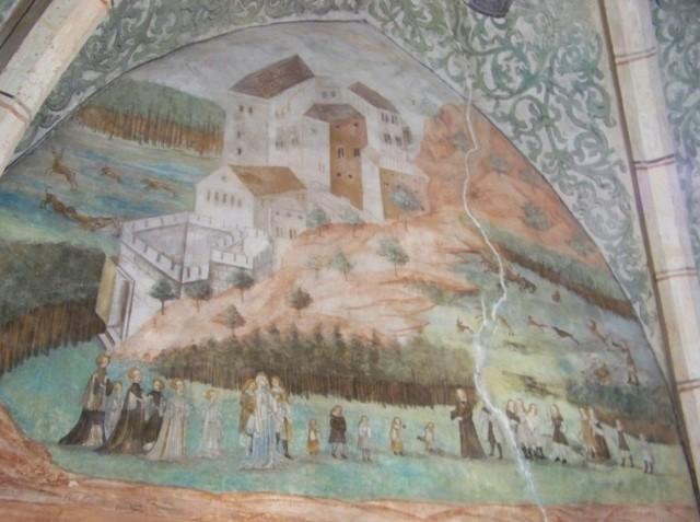 фрески замка Гоуска