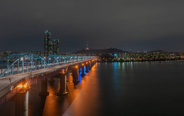 Река Хан в Сеуле